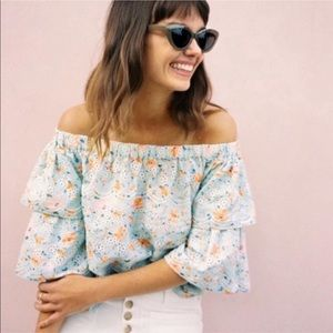 NWT Anthropologie Laia Ashtabula Lace Top